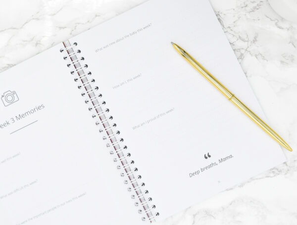Mama Notes, the wellbeing notebook for new mums